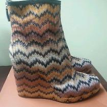 Missoni Platform Wedge Ankle Boots  Photo