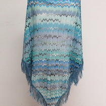 Missoni Poncho Aqua and Lilac Wavy Stripes One Size Gently Worn Photo