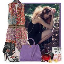 Missoni Praga Crochet-Knit Patchwork Wrap Dress Photo