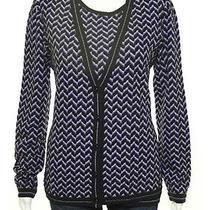 Missoni Purple Black Zigzag Print Long Sleeve Knit Twin Sweater Set Sz It 46 Photo