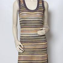 Missoni Purple Yellow Multi Striped Stretch Knit Dress Sz 6 Euc  Photo