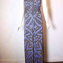 Missoni Sexy Strapless Modernist Print Jersey Evening Gown Size 40 Photo