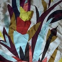Missoni Silk Scarf - Aqua/wine Creeping Floral - Nwt - 28