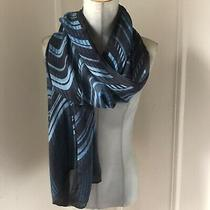 Missoni Silk Scarf Large Light Blue Black Photo