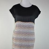 Missoni  Silk Wool Crochet Black Blue Ivory White Sheath Dress  Made in Italy Photo