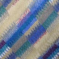 Missoni Slateblue Tan Darkvioletred Stripe Silk Necktie Tie Tjul2015 Photo