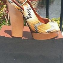 Missoni Slingback Pump W/open Toe Block Heel Platform New W/box 745 Sz. 8.5 Photo