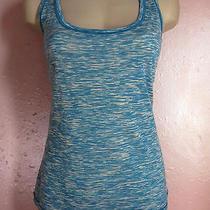 Missoni Tank Top Sweaterspace Dye Wool Jerseyturquoise Blue Off-White48m-L Photo