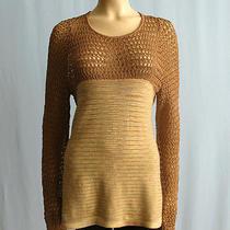 Missoni Top Orange Label Knit Mesh Tunic Tan Brown 46 12 1275 5867k Photo