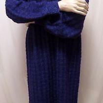 Missoni Vintage Purple Blue Wool Mohair Boucle Italy v Neck Sweater Dress Sz L Photo