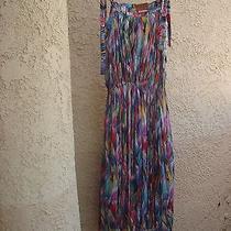 Missoni Vtg Silk Blend Jersey Wearable Art Multi Print Dress Orange Label S 40 Photo