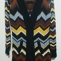 Missoni Women's Chevron Open Front Long Cardigan Sweater Size S Photo
