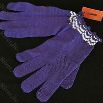 Missoni Zig Zag Gloves Mittens Wool and Mohair Blend Purple Photo