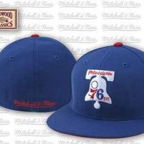 Mitchell & Ness Nba Alternate Hwc Philadelphia 76ers  Fitted Cap 7 5/8 Photo