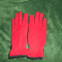 Mitten's - Red Fleece W/rubber Palm - Land's End Brand - Size M - New Photo