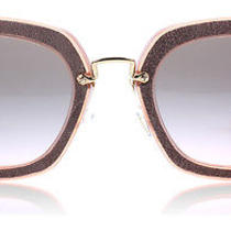 Miu Miu 07os Antique Pink Brown Oao1e2 Sunglasses Photo
