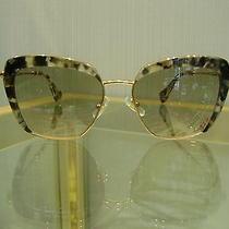 Miu Miu 0mu 520s Cat Sunglasses Dhe3h2 Black/white Acetate Gray Women Italy Photo