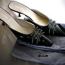 Miu Miu Black High Heels Women Size 36 Prada Shoes by Vero Cuoio (Made in Italy) Photo