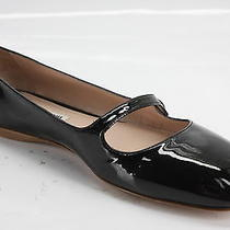 Miu Miu Black Patent Mary Jane Ballet Flats Loafers Size 38 Square Toe 478 New Photo