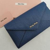 Miu Miu Blue Leather Wallet Purse Bag -Boxed - Great Gift Photo