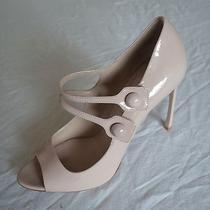 Miu Miu Blush Nude Patent Leather Double Strap Mary Jane Pumps / Heels   38 Photo