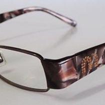 Miu Miu Bronze Brown  Chatoyant Metal  Eyeglasses Vmu 63e With Amber Rhinestones Photo
