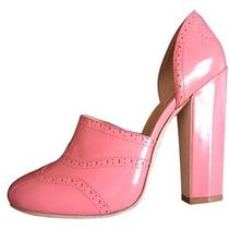 Miu Miu by Prada Leather Shoes - New - Pink Photo