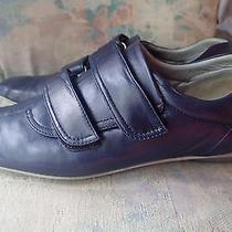 Miu Miu by Prada Shoes Sz 37.5dark Bluenavy Blueleather  -C Photo