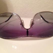 Miu Miu  by Prada Sunglasses Silver/swarsovski Crystals Mu59hs 100% Authentic Photo