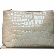 Miu Miu Classic Women's Beige Patent Leather Alligator Large Clutch Bag 5bf029 Photo