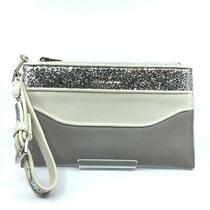 Miu Miu Contenitori Gray and White Glittered Pouch Clutch Wristlet 5nh002 Photo