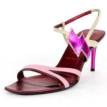 Miu Miu Electric Pink Lightning Bolt Detail Strappy Sandals 37 Photo