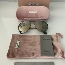 Miu Miu Gold Mirror and Gold Frame Aviator Sunglasses Smu 53p Photo