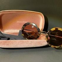 Miu Miu Italy Made Tortoise Shell / Brown Sunglasses W/ Case Photo