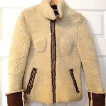 Miu Miu Lamb Skin Leather Jacket Women Beige Colour-Size Xs/s Photo