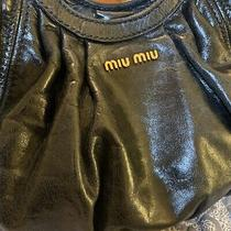 Miu Miu Large Soft Black Leather Hobo Gold Hardware Photo