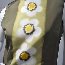 Miu Miu Long Silk Taffeta Dress Olive Size 42/m Photo