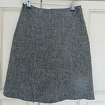 Miu Miu Made in Italy Wool Blend Chunky Weave Grey Skirt Size  38/ 8- 10 Boho Photo