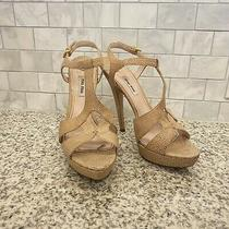 Miu Miu Platform Sandals Stingray Blush Size 41 1050 Photo