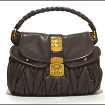 Miu Miu/prada Argilla Nappa Leather Matelasse Hobo Bag Nwt Photo