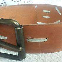 Miu Miu (Prada) Brown Camel Leather Wide Belt Italy Size Xs-S (32/80)  Photo