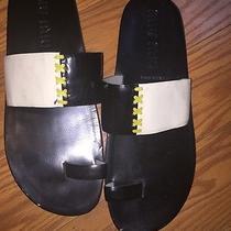 Miu Miu Prada Women's Black White Sandals Slip Flops Flats 40 10 95 Ethankeith1 Photo