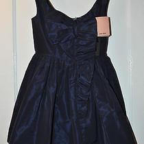 Miu Miu Silk Faille Baby Doll Mini Dress in Blue Size 38 Photo