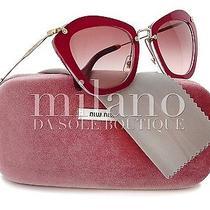 Miu Miu Smu10n Noir Sunglasses Shiny Cyclamen (Dhh-1e2) 10ns 10n 55mm Authentic Photo