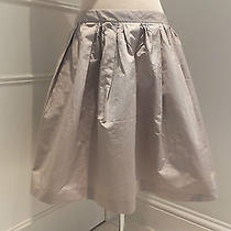 Miu Miu Taupe Taffeta Skirt Size 44it/12uk Photo
