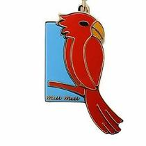 Miu Miu Unisex Cardinal Blue/red/gold Key Chain Key Ring Charm 5tm070 Photo