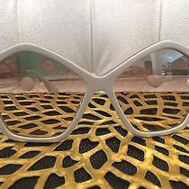 Miu Miu White and Gold Sunglasses Rare Unique  Photo