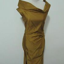 Miu Miu Women's Dress Midi Silk Gold 40 It 4 Us New No Reserve Photo