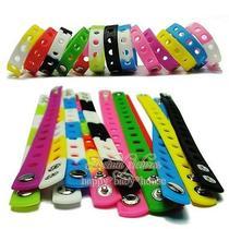 Mix14pcs Colour Silicone Bracelet Wristbands 21cm Fit Croc Shoe Buckle Kid Gift Photo