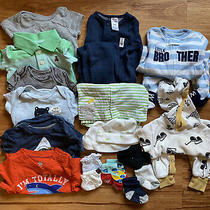 Mixed Clothing Lot Baby Boy 0-3 Months - Carters Gap Tcp Old Navy 18 Pieces Photo